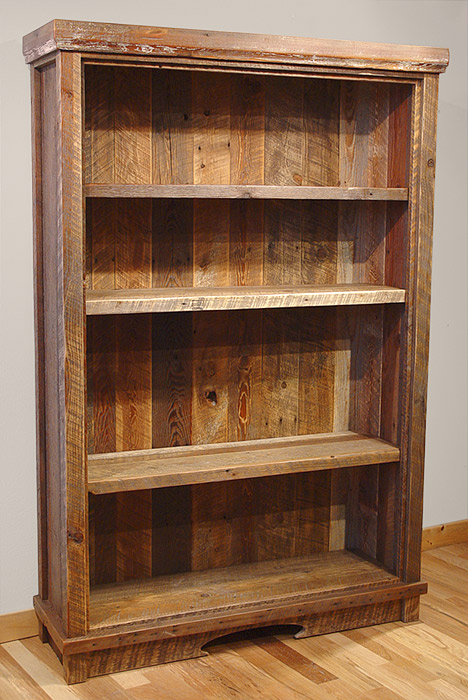 Reclaimed Barn Wood Bookshelf 468 x 700
