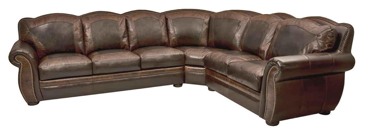 Bradley\'s Furniture Etc. - Artistic Leather Premium Rustic Sofas