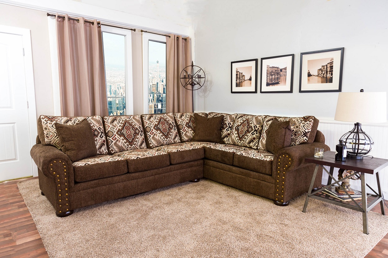 Intermountain 1109T Married Sectional Collection Click for Fabric S&les : leather and cloth sectional - Sectionals, Sofas & Couches