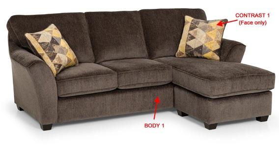 Bradley S Furniture Etc Stanton Fabric And Leather Sofas