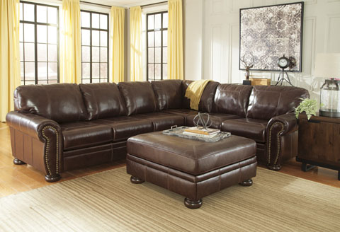 benchcraft genuine top grain or bonded leather sofas and sectionals rh utahrusticfurniture com benchcraft leather couch benchcraft leather sectional sofa