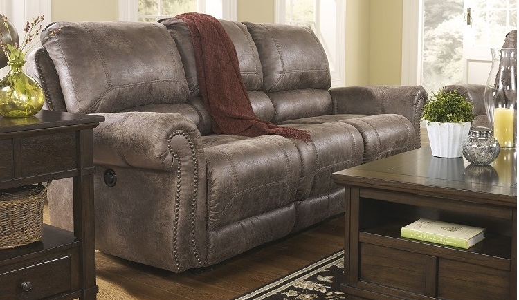 Rustic reclining sofa bradley s furniture etc for Furniture etc