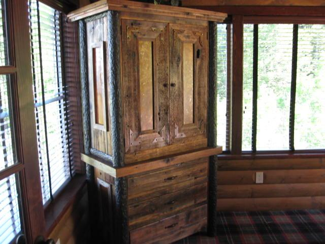 Custom Log And Barnwood Armoires Chests