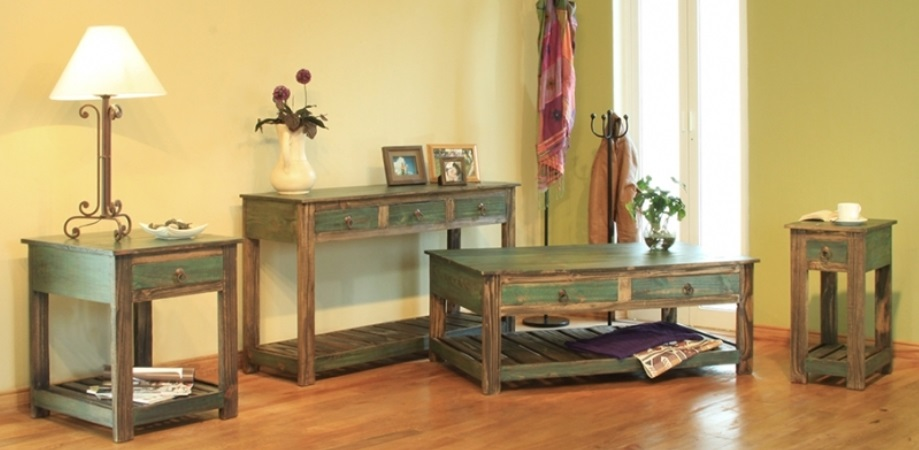 green antique sofa bradleys furniture etc rustic occasional tables artisan and