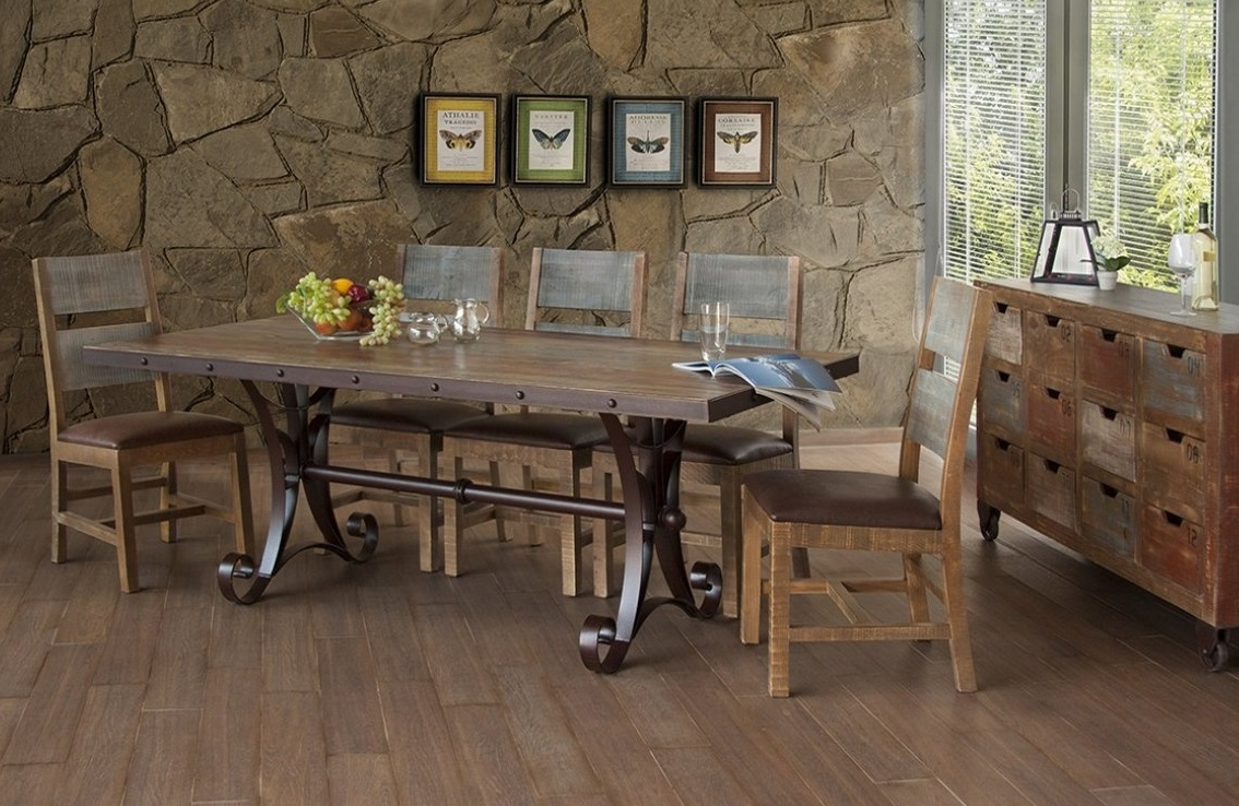 Bradleys Furniture Etc Utah Rustic Furniture And Mattresses - Distressed wood dining table with bench