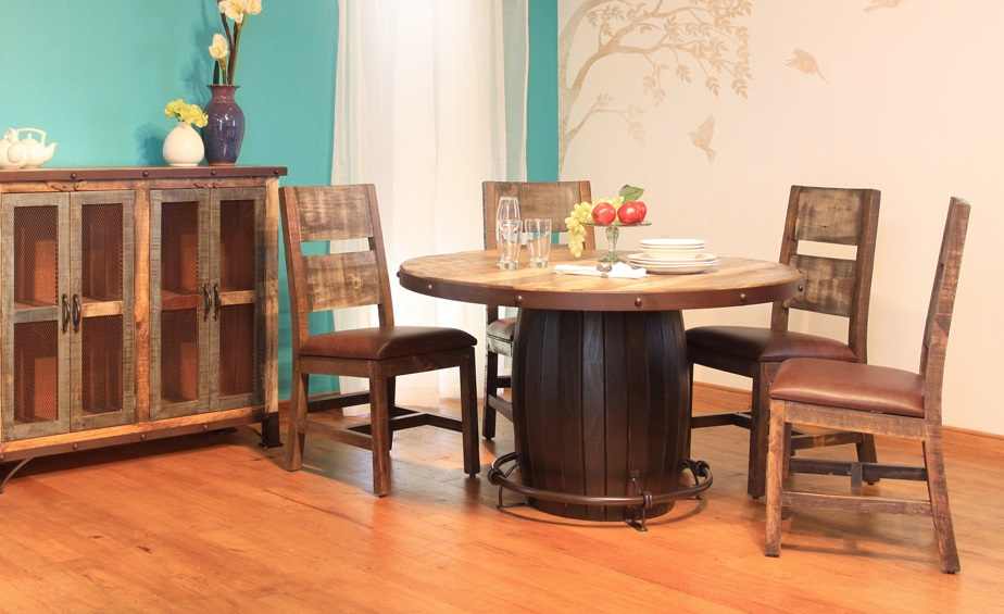 Charmant Antique Teal Multi Color Dining Table