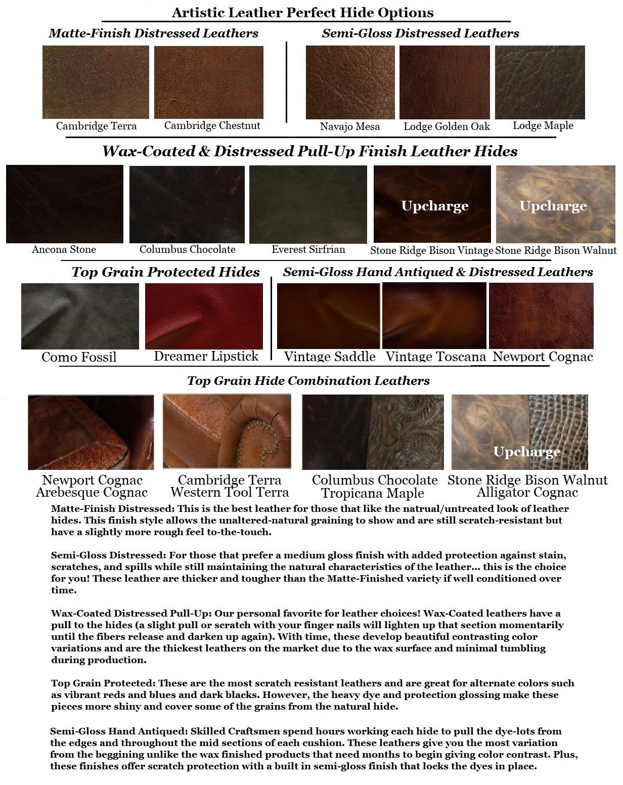 Gloss Leather Finish Matte Finish Semi Gloss