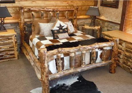 log bedroom set.  Bradley s Furniture Etc Utah Rustic Bedroom