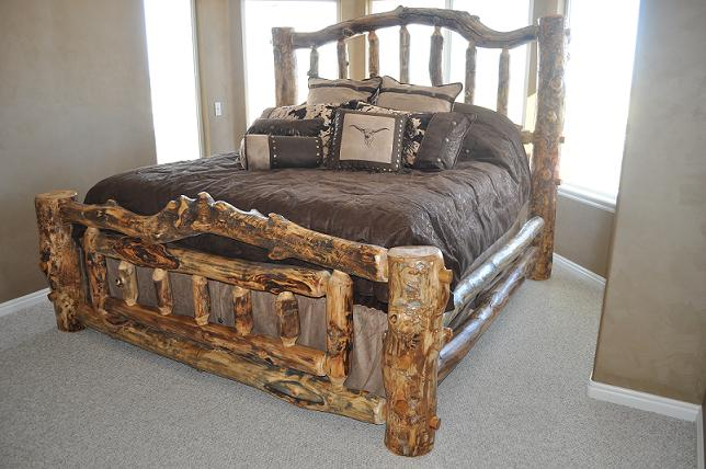 Bradley's Utah Log Furniture   Rustic Aspen Log Bedroom Collection
