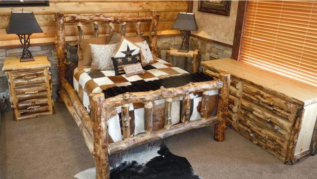 Bradley\'s Utah Log Furniture - Rustic Aspen Log Bedroom Collection