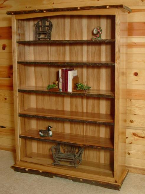"""Wild West Rustic Oak Bookshelf Was $1299 Now $949 42"""" W x 16"""" D x 72"""" H*  Made in Utah and avail. in any dimension - Bradley's Furniture Etc. - Rustic Bookshelves"""