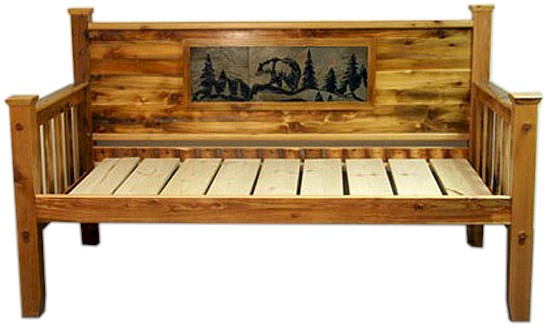 Bradley S Furniture Etc Rustic Log And Barnwood Daybeds