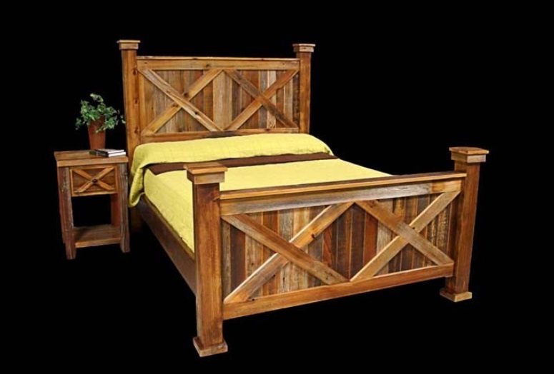 Bradley\'s Furniture Etc. - Utah Rustic Bear Paw Barnwood Bedroom ...