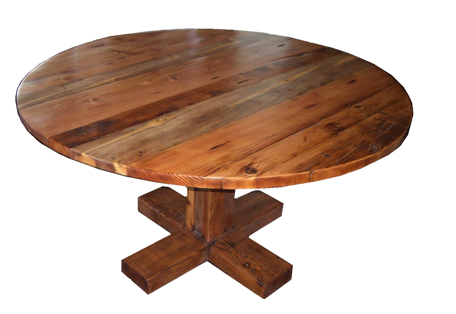 rustic round dining room tables have open