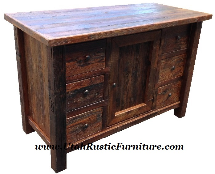 Western Plains Barnwood Vanity W 6 Drawers Built For An Above Or In Counter Sink 35 H Add 60 53 X 21 D 31 Price 939 Extra