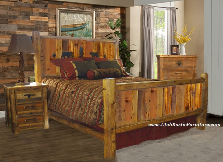 Merveilleux Bradleyu0027s Furniture Etc.   Utah Rustic Bear Paw Barnwood Bedroom Collection