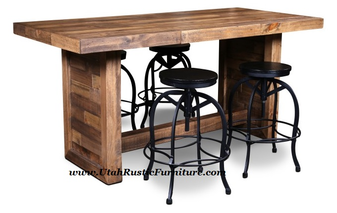 Boardwalk Solid Wood Butcher Block Counter High Dining