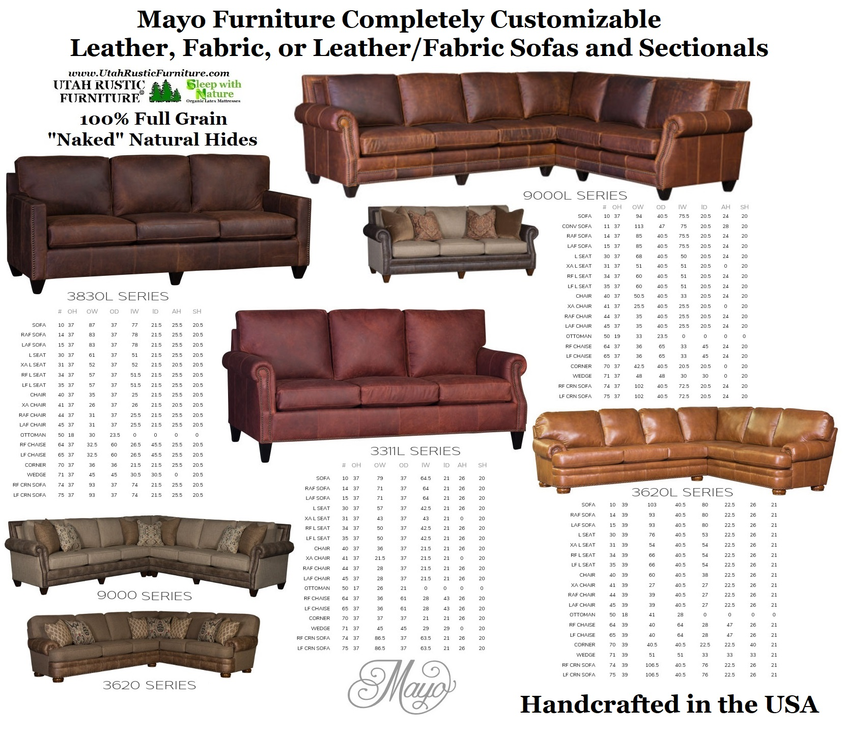 Bradley S Furniture Etc Mayo Leather And Fabric Sofas