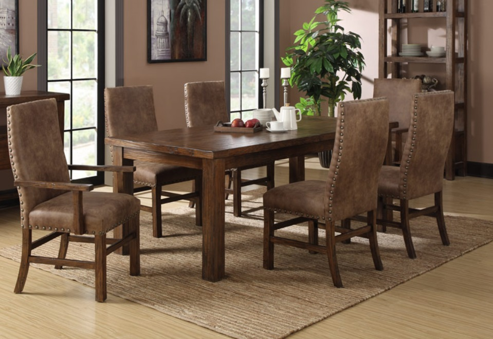 Leather Dining Room Furniture Bradley's Furniture Etc Utah Rustic Dining Room Furniture