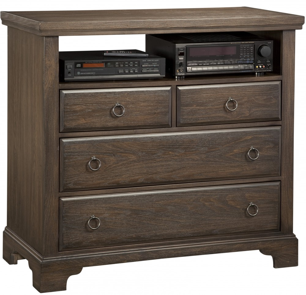 Rustic 5 Dr Chest Dark Roast 4 Dr Media Chest