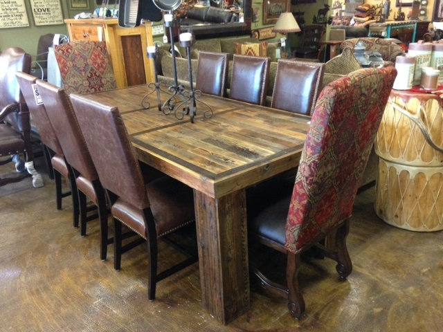 Bradley 39 s furniture etc utah rustic dining table sets for Western dining room tables