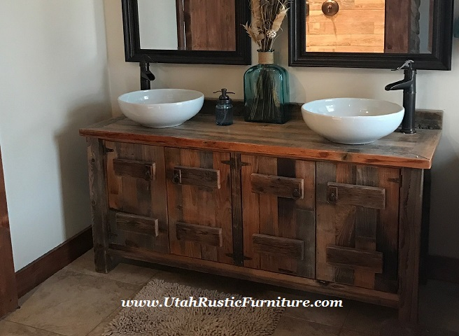 Rustic Log And Barnwood Vanities
