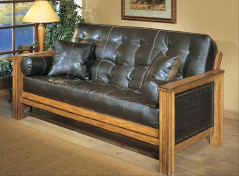 Love Seat Ottoman Black Leather Cover Rustic And Traditional Futons Bradley 39 S Furniture