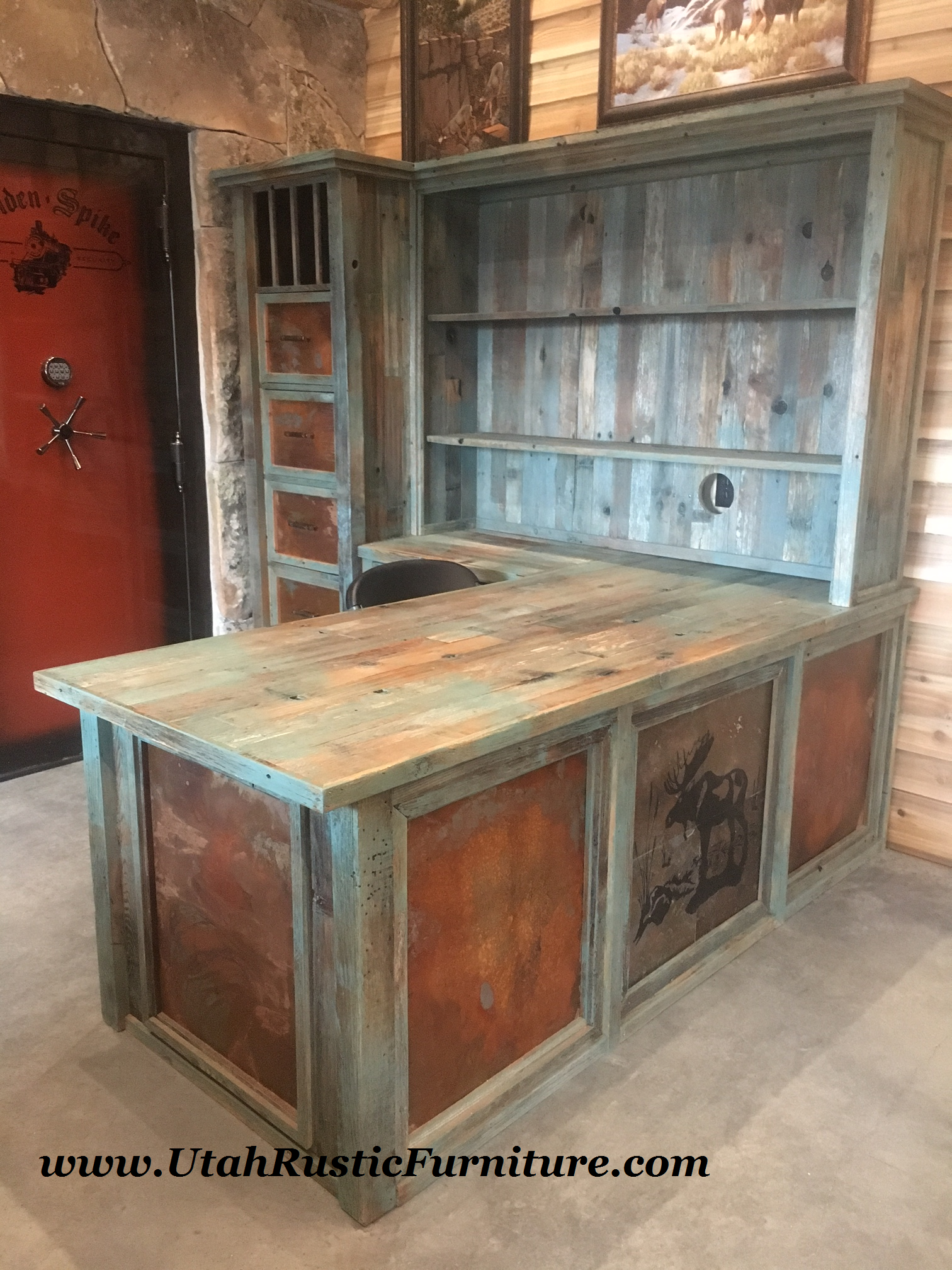 wood sale hutch barnwood for buffet distressed