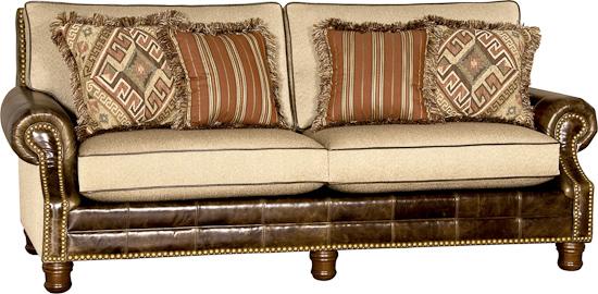 Bradleys Furniture Etc Mayo Leather And Fabric Sofas - Sofa leather and fabric combined