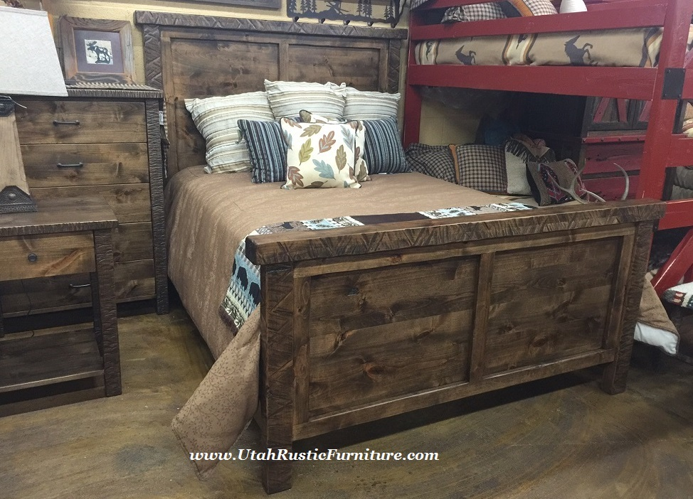 Click here to see different options in the same collection Mountain home bedroom furniture