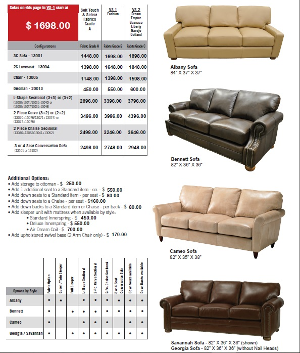 Savannah Sofa MSRP $2160 Click For Sale Prices On Each Piece In This ...