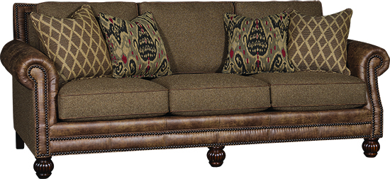 Bradley\'s Furniture Etc. - Mayo Leather and Fabric Sofas