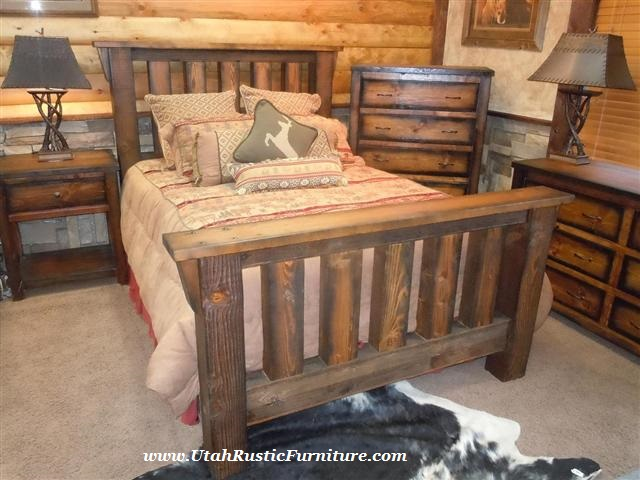 Bradley\'s Furniture Etc. - Rugged Canyon Barnwood Bedroom Set