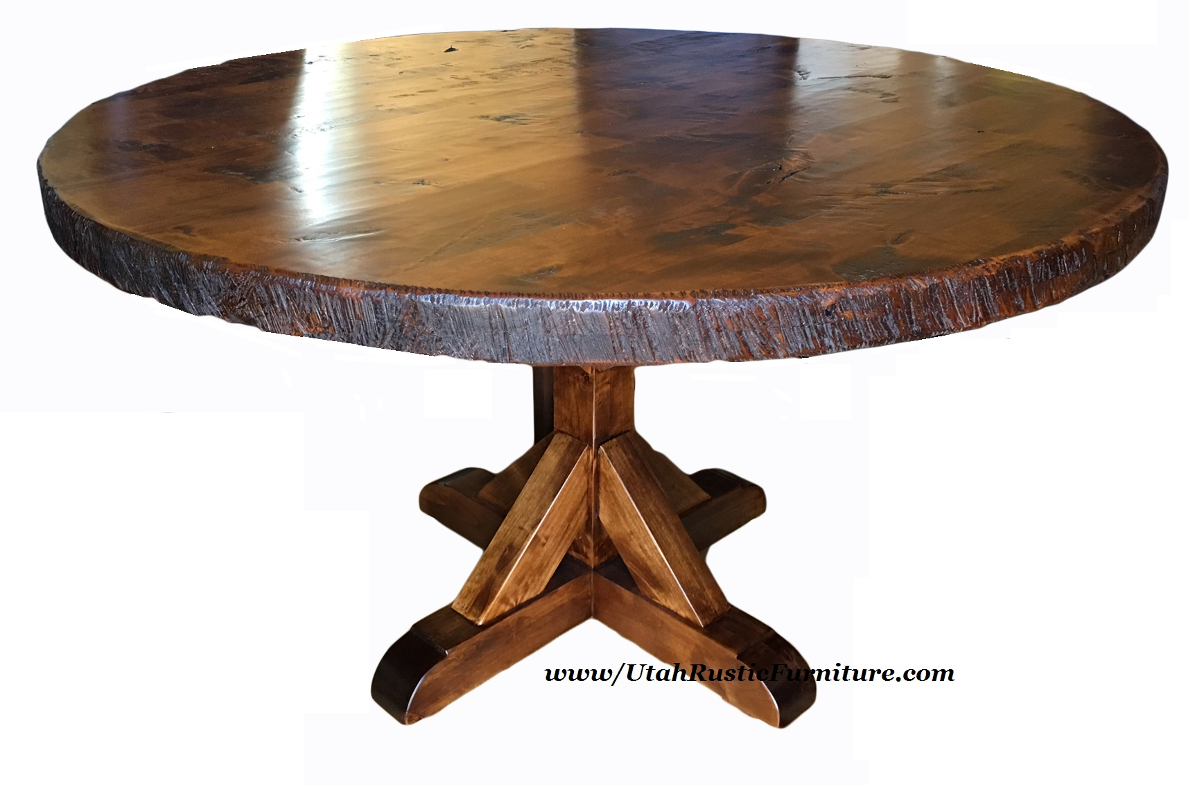Rustic Round Dining Room Table bradley's furniture etc. - utah rustic dining table sets