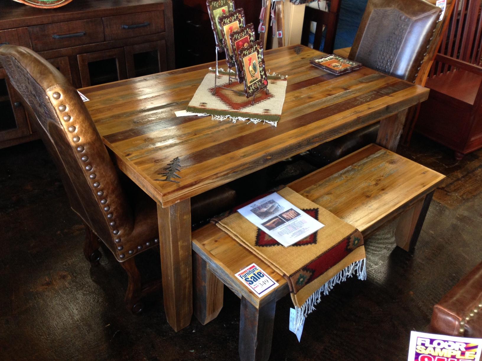 Bradley\'s Furniture Etc. - Utah Rustic Dining Table Sets