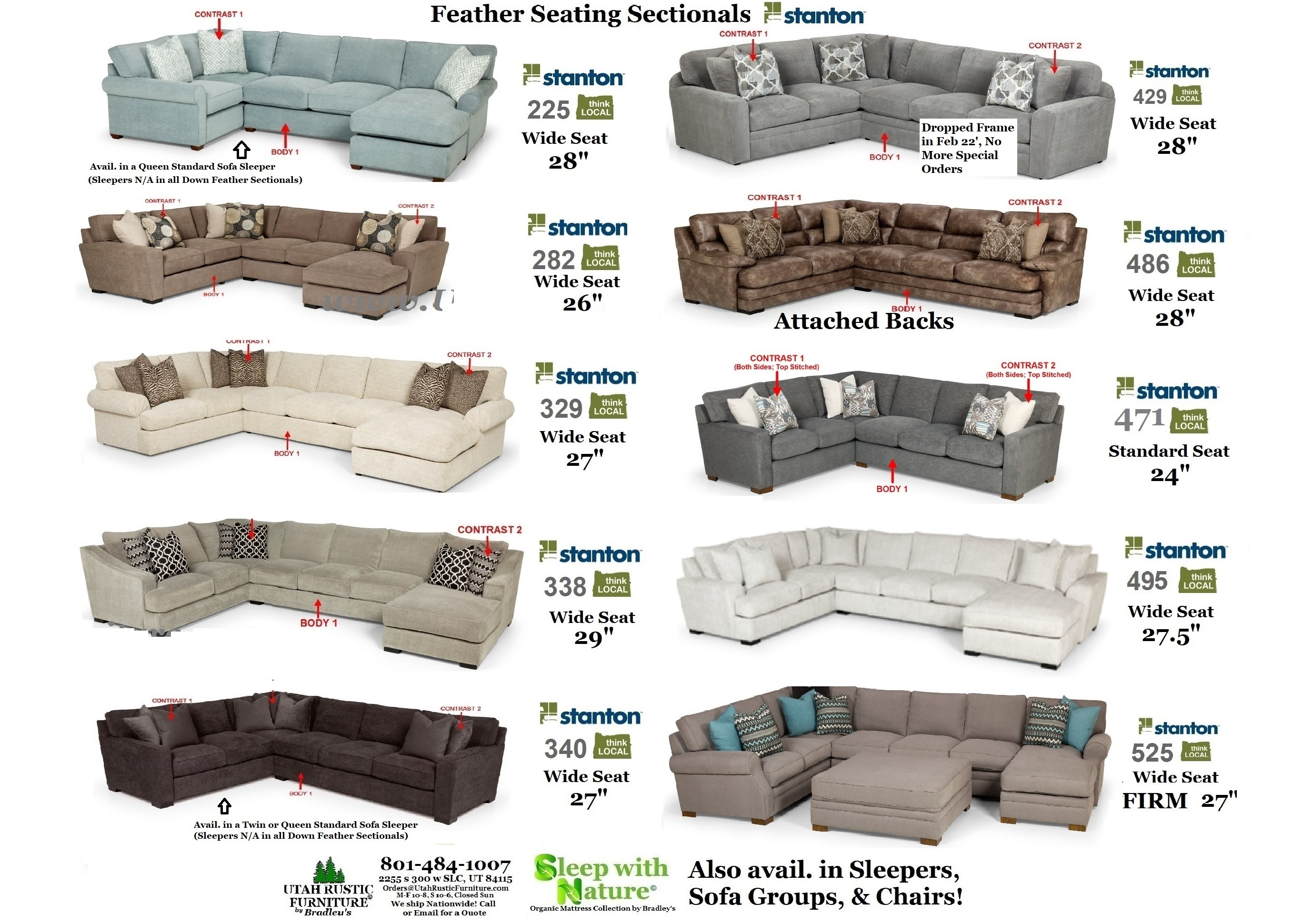 Outstanding Bradleys Furniture Etc Stanton Fabric And Leather Sofas Home Interior And Landscaping Dextoversignezvosmurscom