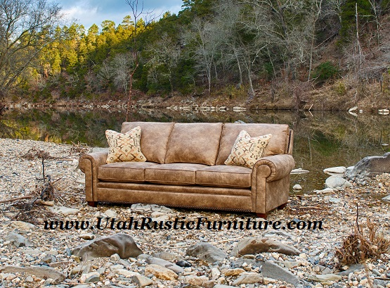 Mayo Top Grain Custom Rustic Leather Couches