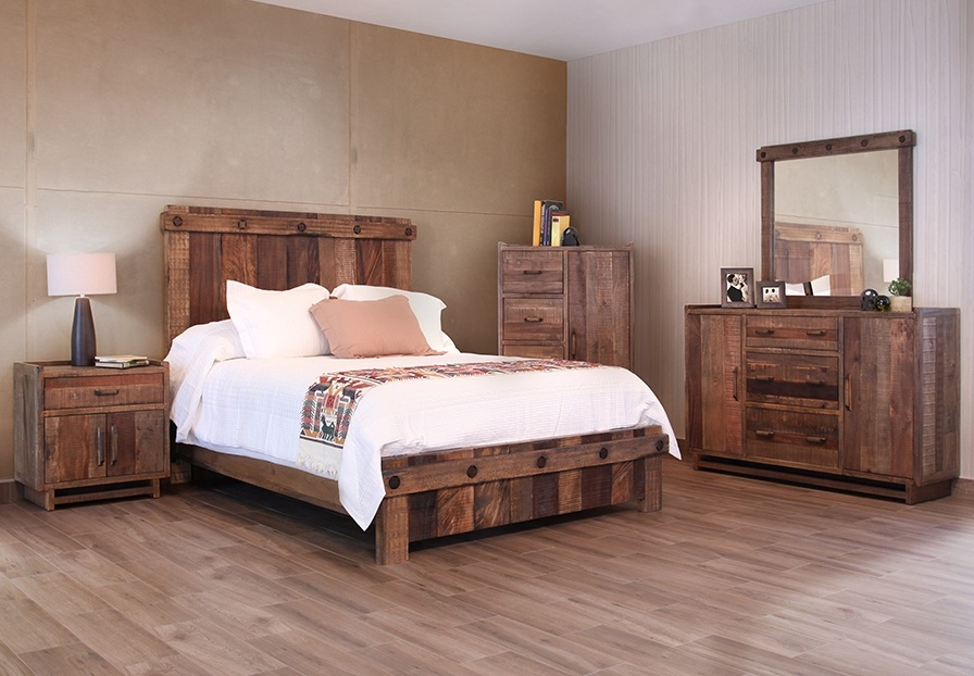 Bedroom Furniture Reclaimed Wood bradley's furniture etc. - utah rustic bedroom furniture