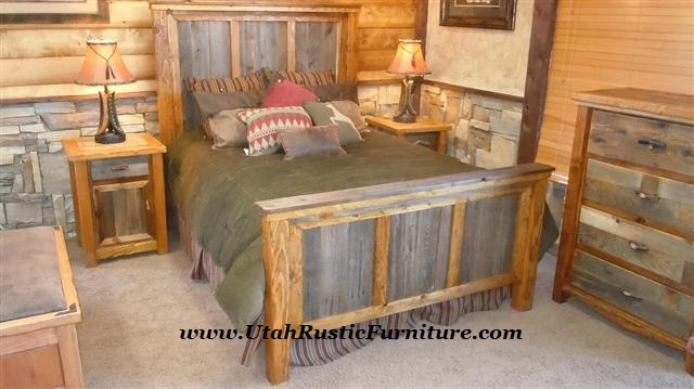 Bradley 39 S Furniture Etc Utah Rustic Timbercreek Bedroom Set