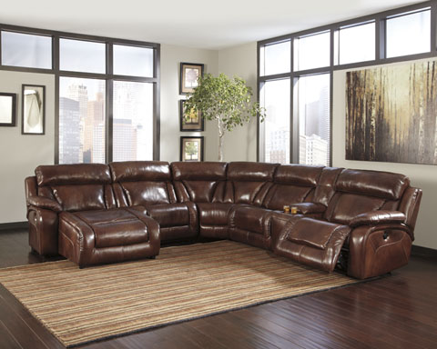 Design #194 Billwedge Top Grain Leather Was $3299 Call for Pricing RAF/LAF 4 Recliners and RAF/LAF Chaise avail. Console Section also available as pictured. : top grain leather sectional with chaise - Sectionals, Sofas & Couches