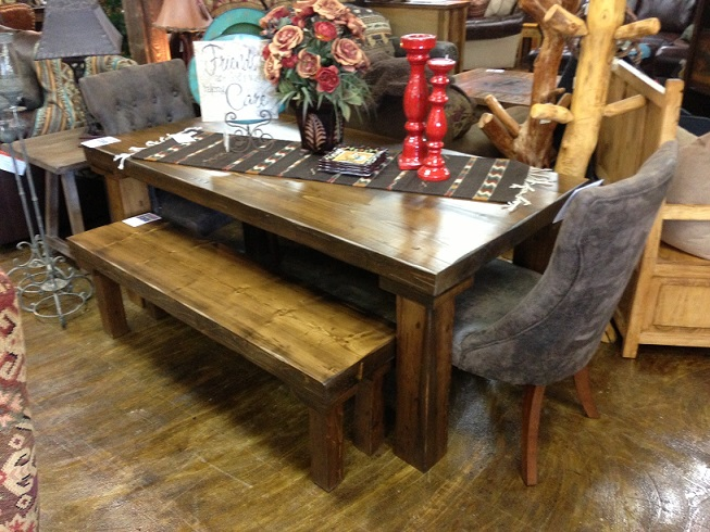 Smooth Distressed Solid Wasatch Spruce Table 72 X 36 Was 1499 Now 1049 Any Size Rough Or Finish And A Variety Of Stains Are Available