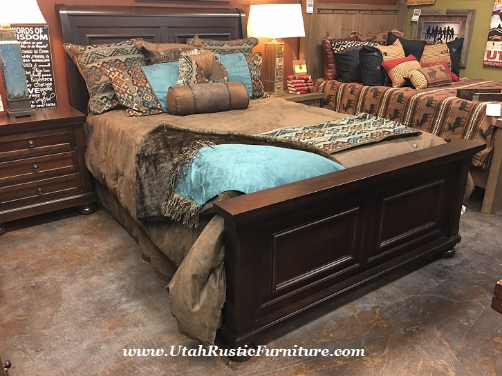 Reflections Hardwood Sleigh Hb Panel Fb Collection Queen Bed 699
