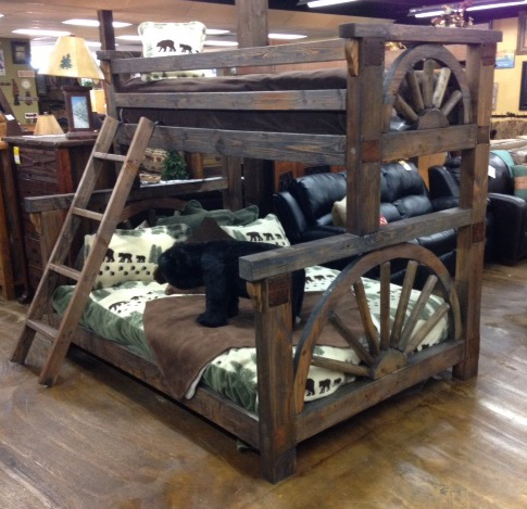 The Wagon Wheel Collection Features One Of A Kind Pieces That Will Add A  Truly Western Flair To Any Room. This Collection Is Made Of Solid Wood  Rails, ...