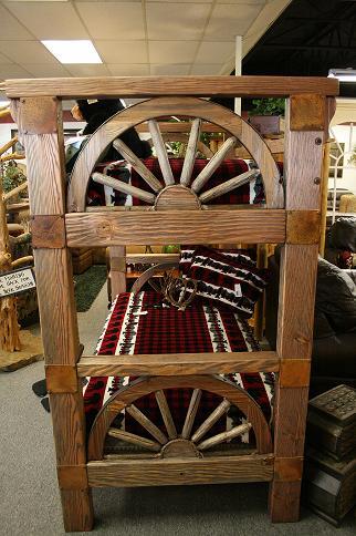 Bradley S Furniture Etc Wagon Wheel Barnwood Bedroom