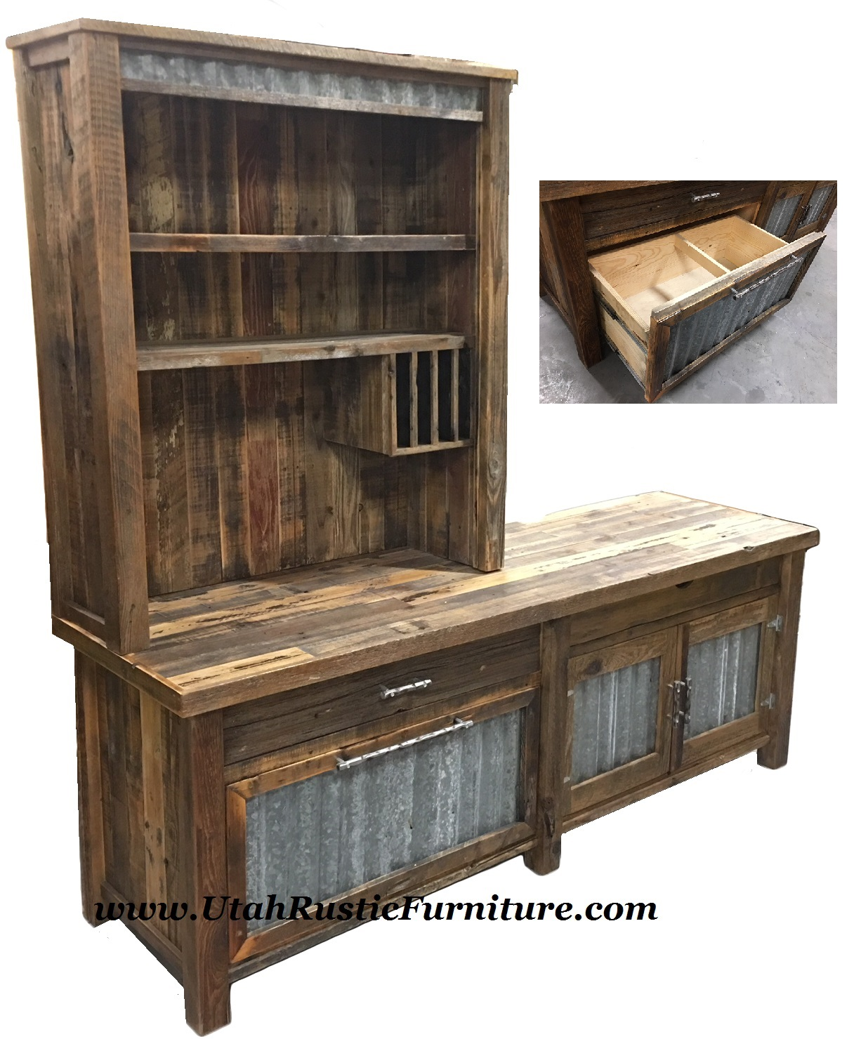 bottom handcrafted piece ham amish barnwood old top order step country primitive hutch hut