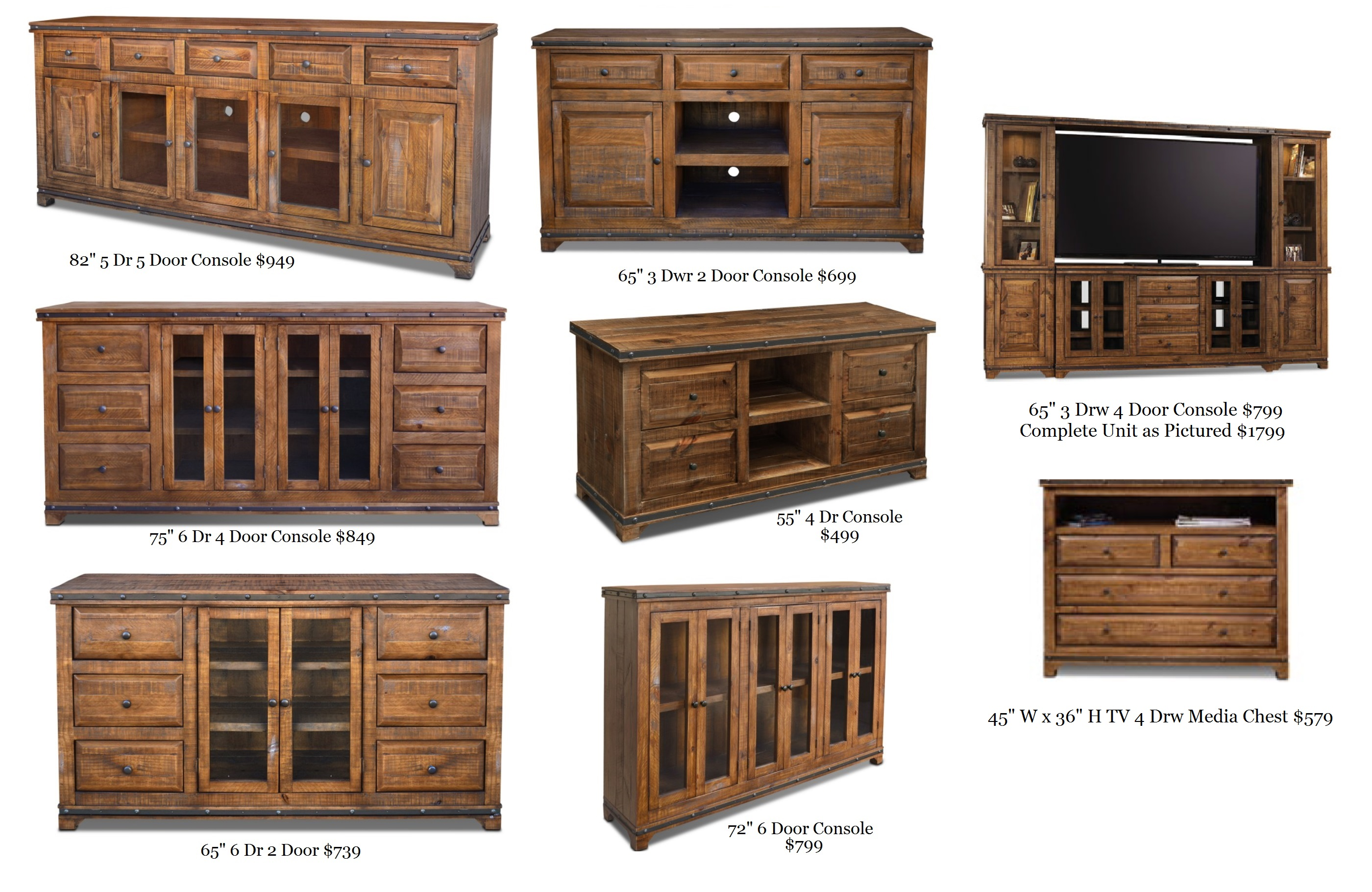 Horizon Westwood Solid Wood Consoles