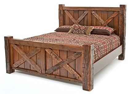 Merveilleux Timbercreek Metal Barnwood Set Qn Bed $1149