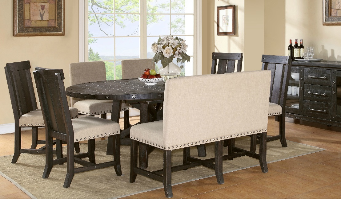 Yosemite Round Dining Table W Extension Leaf 54 72 L X Was 999 Now 799 Cantina Counter High