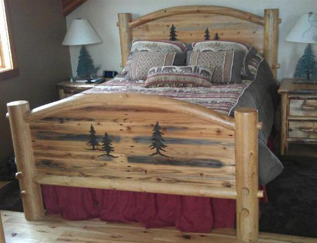 Attractive Arched Barnwood Bed 100% Solid Wood Bed Set