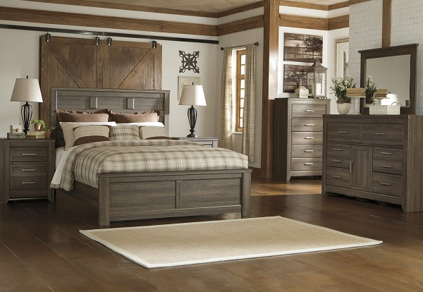 B251 Juararo Rough Sawn Oak Veneer Bedroom Qn Bed 549 Now 349 Kg Bed 649 Now